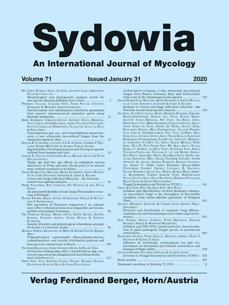 Sydowia Vol. 71 E-Book/S 139 OPEN ACCESS